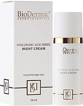 Fragrances, Perfumes, Cosmetics Night Face Cream - BioDermic Hyaluronic Acid Night Cream