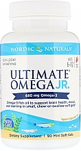 """Fragrances, Perfumes, Cosmetics Dietary Supplement with Strawberry Scent """"Omega-3"""", 860 mg - Nordic Naturals Ultimate Omega Junior"""