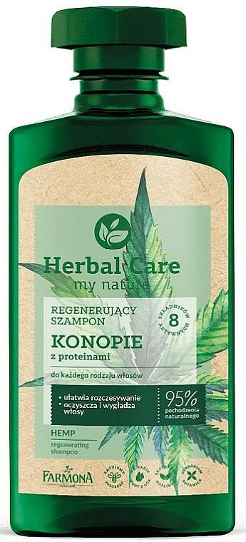 Shampoo - Farmona Herbal Care Regenerating Shampoo with Hemp Oil and Protein