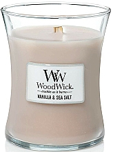 Fragrances, Perfumes, Cosmetics Scented Candle in Glass - WoodWick Hourglass Candle Vanilla & Sea Salt