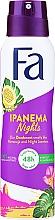 "Fragrances, Perfumes, Cosmetics Deodorant Spray ""Rhythms of Brazil"" - Fa Ipanema Nights Deo Spray"