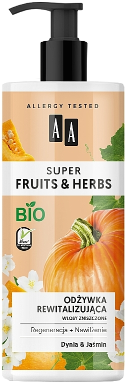 "Repair Hair Conditioner ""Pumpkin & Jasmine"" - AA Super Fruits Herbs Conditioner"