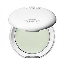Fragrances, Perfumes, Cosmetics Compact Mattifying Powder, mint - Missha Airy Pot Powder
