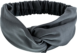 "Fragrances, Perfumes, Cosmetics Headband, Knit Cross, grey, ""Knit Twist"" - MakeUp Hair Accessories"