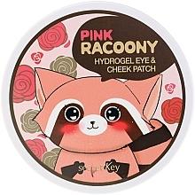 Fragrances, Perfumes, Cosmetics Hydrogel Eye and Cheek Patches - Secret Key Pink Racoony Hydro-Gel Eye & Cheek Patch