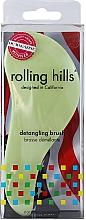 Fragrances, Perfumes, Cosmetics Hair Brush, light green - Rolling Hills Detangling Brush Travel Size Light Green