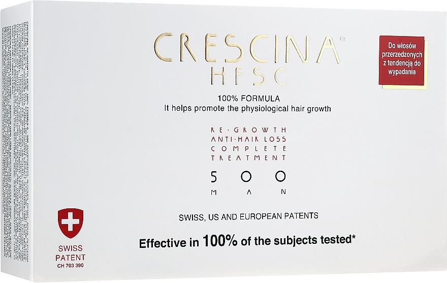 Men Re-Growth Anti Hair Loss Full Course 500 - Crescina Re-Growth HFSC 100% + Crescina Anti-Hair Loss HSSC