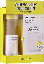 Fragrances, Perfumes, Cosmetics Set - Holika Holika Gold Kiwi Vita C+ Brightening Toner Special Set (toner/150ml+pad/40pcs)