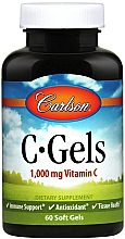 Fragrances, Perfumes, Cosmetics Vitamin C, 1000mg - Carlson Labs C-Gels Vitamin C
