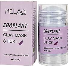 Fragrances, Perfumes, Cosmetics Eggplant Facial Mask Stick - Melao Eggplant Clay Mask Stick