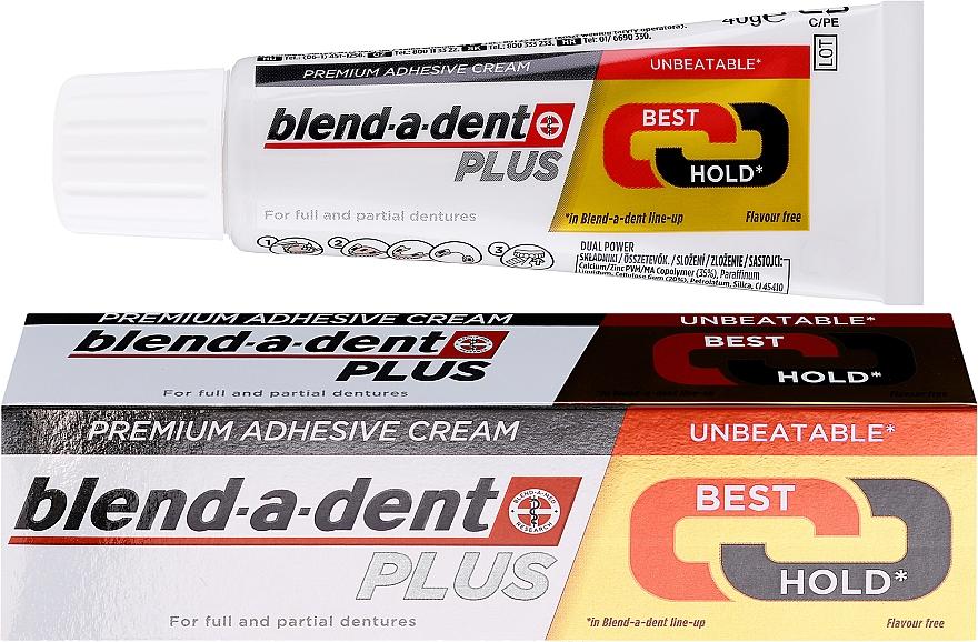 Dentures Adhesive Cream - Blend-A-Dent Premium Adhesive Cream Plus Dual Power Light Mint