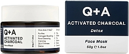 Fragrances, Perfumes, Cosmetics Detox Face Mask - Q+A Activated Charcoal Face Mask