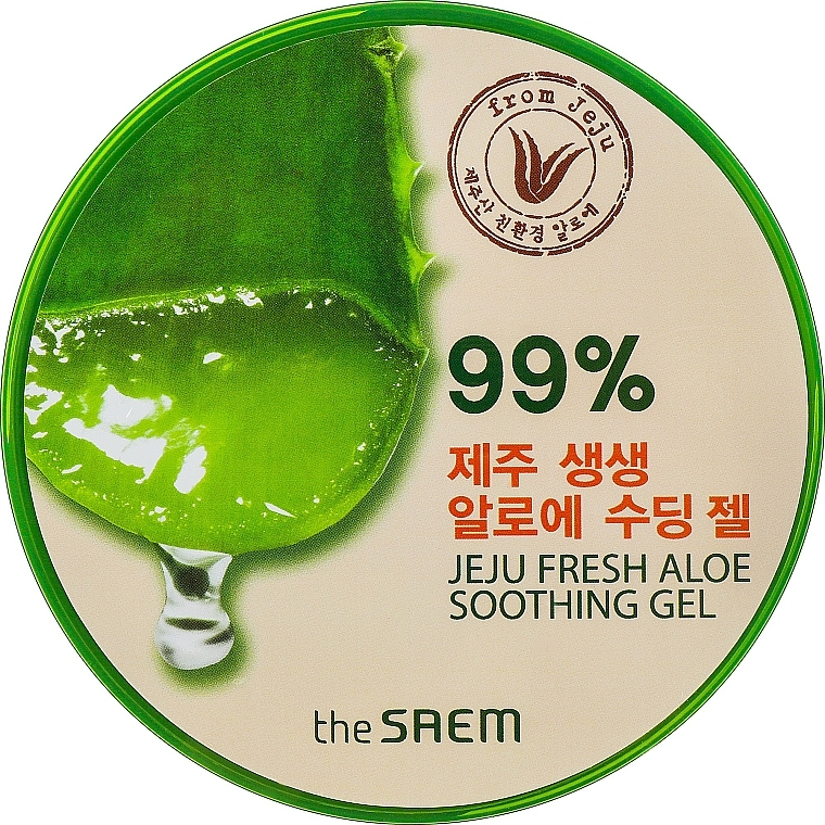 Multi-Purpose Gel with Aloe - The Saem Jeju Fresh Aloe Soothing Gel 99%