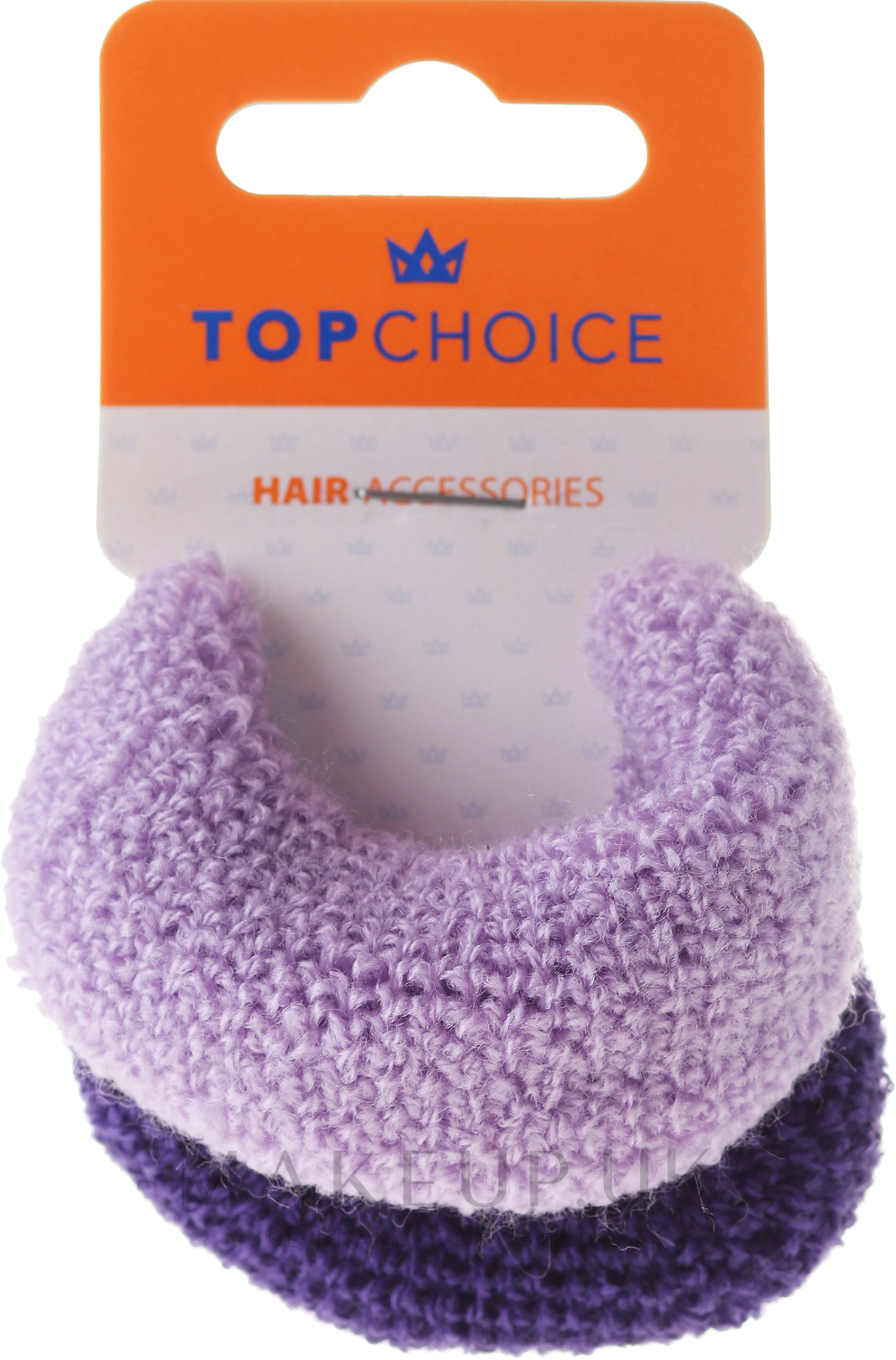 Elastic Hair Bands, purple mix - Top Choice — photo 2 pcs.