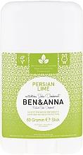 "Fragrances, Perfumes, Cosmetics Soda Deodorant ""Persian Lime"" (plastic) - Ben & Anna Natural Soda Deodorant Persian Lime"
