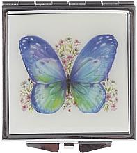 "Fragrances, Perfumes, Cosmetics Makeup Mirror, ""Butterflies"" 85420, light blue butterfly - Top Choice"
