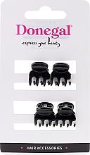 Fragrances, Perfumes, Cosmetics Hair Clip FA-9930, mini, black, 4 pcs - Donegal Hair Clip