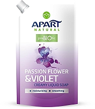 "Fragrances, Perfumes, Cosmetics Liquid Cream-Soap ""Passion Flower and Violet"" - Apart Natural Passion Flower & Violet Soap (doypack)"