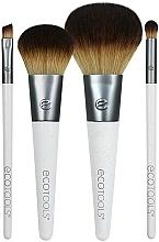 Fragrances, Perfumes, Cosmetics Makeup Brush Set, 4 pcs - EcoTools On-The Go Style