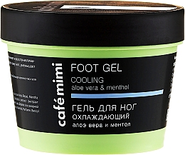 """Fragrances, Perfumes, Cosmetics Foot Gel """"Cooling"""" with Aloe Vera and Menthol - Cafe Mimi Foot Gel Cooling Aloe Vera & Menthol"""