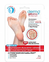 Fragrances, Perfumes, Cosmetics Foot Peeling Mask - Dermo Pharma Skin Repair Expert S.O.S. Exfoliating & Cell Recovery Foot Mask
