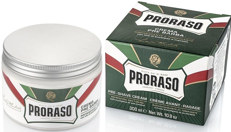 Pre-Shave Cream with Menthol and Eucalyptus - Proraso Green Pre Shaving Cream