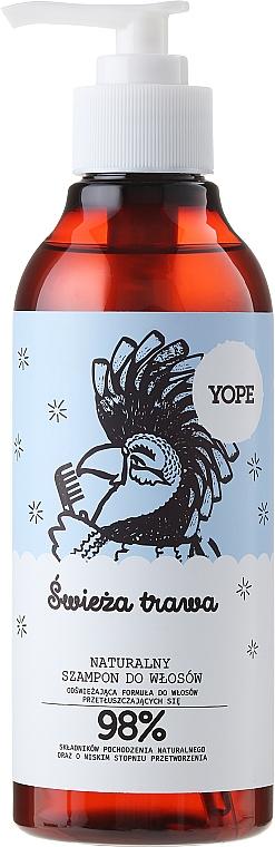 """Natural Oily Hair Shampoo """"Fresh Grass"""" - Yope"""
