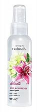 "Fragrances, Perfumes, Cosmetics Body Lotion-Spray ""Lily and Gardenia"" - Avon Naturals Lily&Gardenia Spray"