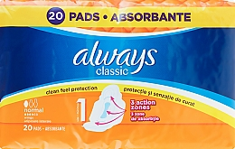 Fragrances, Perfumes, Cosmetics Sanitary Pads, 20pcs - Always Classic Normal