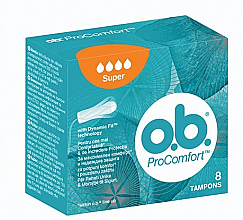 Fragrances, Perfumes, Cosmetics Tampons, 8 pcs, 4 drops - o.b. ProComfort Super Tampons