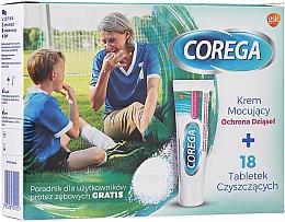 Fragrances, Perfumes, Cosmetics Set - Corega (fixative/cream/40g+tabs/18pcs)
