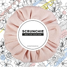 """Fragrances, Perfumes, Cosmetics Eco-Suede Elastic Hair Band, peach """"Suede Classic"""" - MakeUp Hair Accessories"""