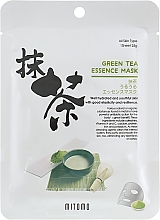 Fragrances, Perfumes, Cosmetics Facial Green Tea Sheet Mask - Mitomo Green Tea Essence Mask