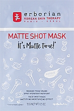 Fragrances, Perfumes, Cosmetics Mattifying Facial Sheet Mask - Erborian Matte Shot Mask