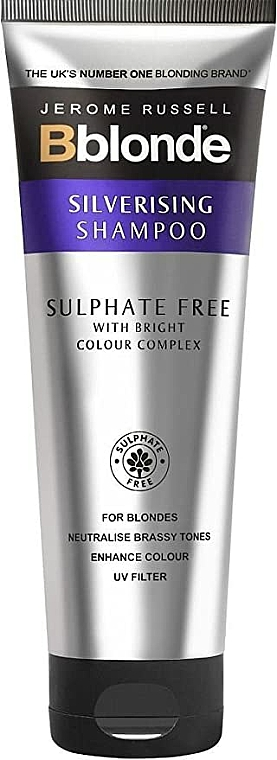 Sulphate Free Silverising Shampoo - Jerome Russell Bblonde Silverising Sulphate Free Brightening Shampoo