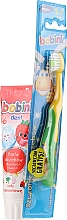 Fragrances, Perfumes, Cosmetics Set with Yellow & GreenToothbrush - Bobini 1-6 (toothbrush + toothpaste/75ml)