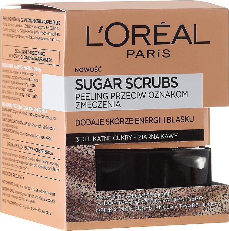 "Sugar Face Scrub ""3 Sugars + Coffee Grains' - L'Oreal Paris Pure-Sugar Resurface & Energize Kona Coffee Scrub"