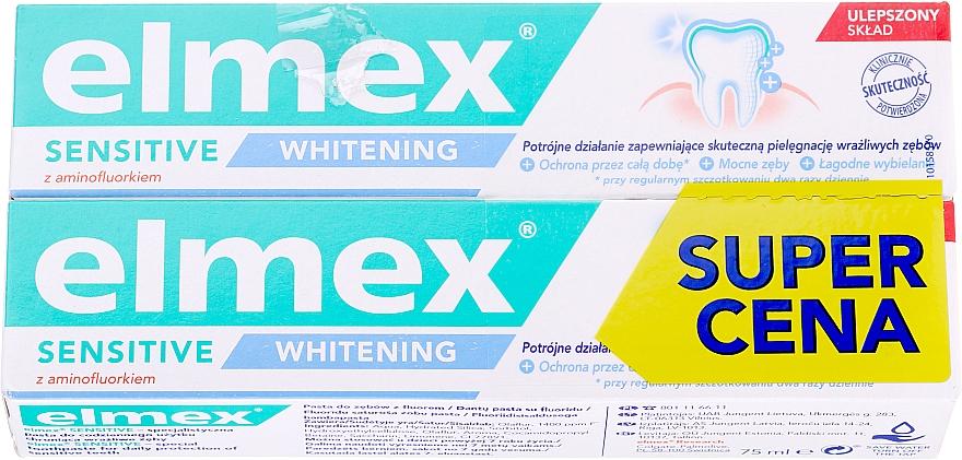 Set - Elmex Sensitive Whitening Toothpaste (toothpaste/2x75ml)