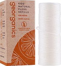 Fragrances, Perfumes, Cosmetics Dental Floss, 2x50 m - Georganics Natural Sweet Orange Dental Floss (refill)