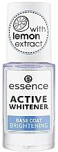 Fragrances, Perfumes, Cosmetics Whitener Base Coat - Essence Active Whitener Base Coat Brightening