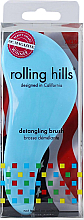Fragrances, Perfumes, Cosmetics Hair Brush, blue - Rolling Hills Detangling Brush Travel Size Sky Blue