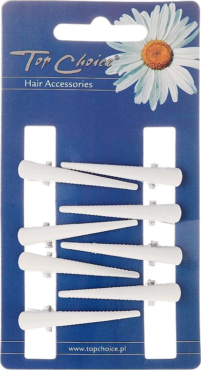 Hairpin, size XS, white, 8 pcs - Top Choice — photo N1