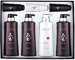 Fragrances, Perfumes, Cosmetics Set - Daeng Gi Meo Ri Ki Gold Hair Care Set (shm/500ml + shm/500ml + shm/500ml + cond/500ml + shm/70ml + shm/70ml + cond/70ml)
