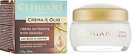 Fragrances, Perfumes, Cosmetics Nourishing Cream - Clinians Argan Crema & Olio Cream