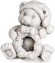 "Fragrances, Perfumes, Cosmetics Natural Soap ""Teddy Bear with Wreath"", grey - LaQ"