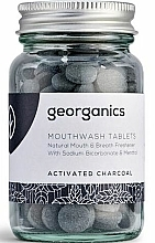 "Fragrances, Perfumes, Cosmetics Mouthwash Tablets ""Activated Charcoal"" - Georganics Mouthwash Tablets Activated Charcoal"