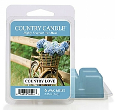 Fragrances, Perfumes, Cosmetics Wax for Aroma Lamp - Country Candle Country Love Wax Melts