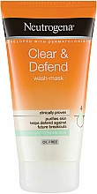 Fragrances, Perfumes, Cosmetics 2-in-1 Face Mask - Neutrogena Clear & Defend 2 in 1 Wash-Mask