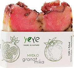 "Fragrances, Perfumes, Cosmetics Natural Soap 100% ""Pomegranate"" - Yeye Natural Pomegranate and Mica Soap"