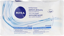 Fragrances, Perfumes, Cosmetics Refreshing Face Wipes, 25pcs - Nivea 3 in 1 Cleansing Wipes